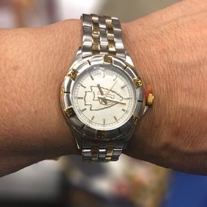 KC Chiefs's watch 23k Gold accents two tone NWOT